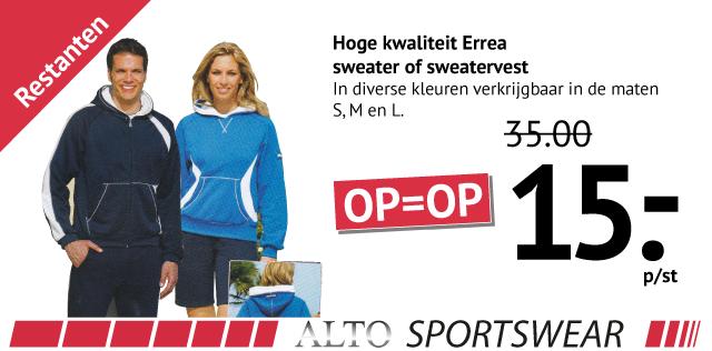 Hoge kwaliteit Errea sweater of sweatervest