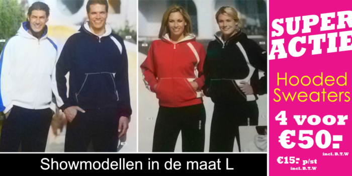 Super Actie – Hooted Sweaters 4 voor €50.-